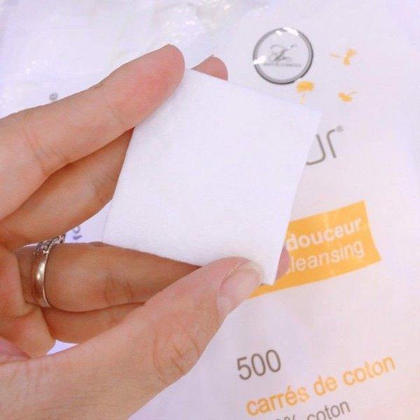 Bông tẩy trang Tetra Le Soin Laretat Pur 500 miếng
