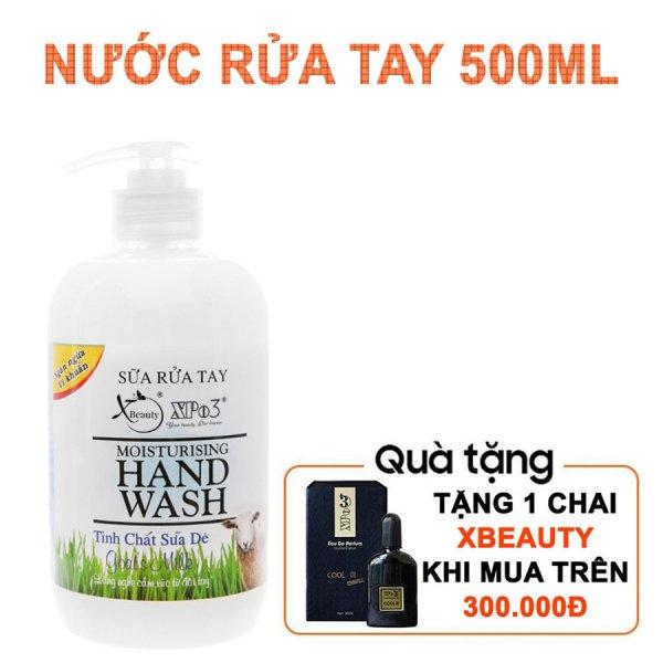 8938511722178 Sữa rửa tay nha đam XBeauty khô nhanh chóng 500ml - Nước rửa tay sát khuẩn (Sữa Dê/Táo Mỹ/Nha Đam)