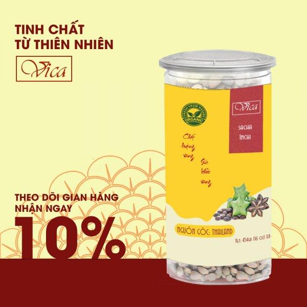 8938511722246 Hạt Sachi (Sacha Inchi) VICA 454g (1LB) đóng hũ nhựa cao cấp. Hạt Sachi (Thái Lan) hũ nhựa cao cấp, dùng làm quà tặng, quà tết, hạt dinh dưỡng