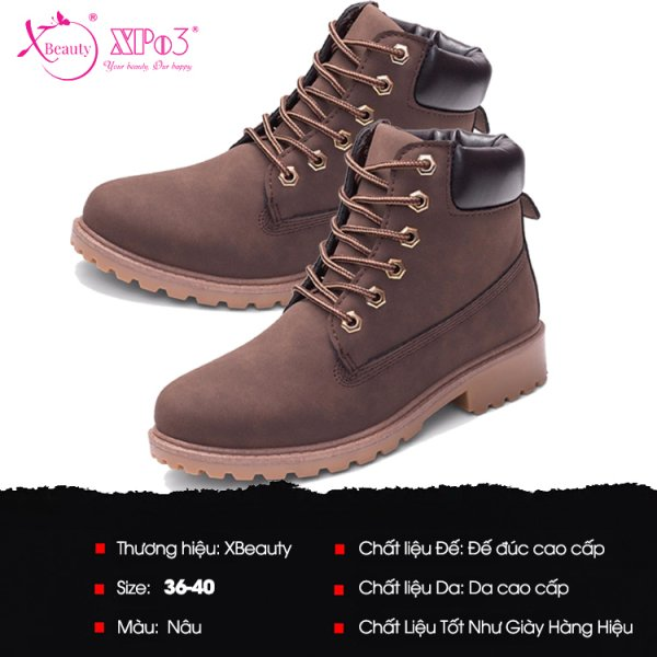8938511722550 XBeauty Four Collor PU Boot - Hồng Size 37