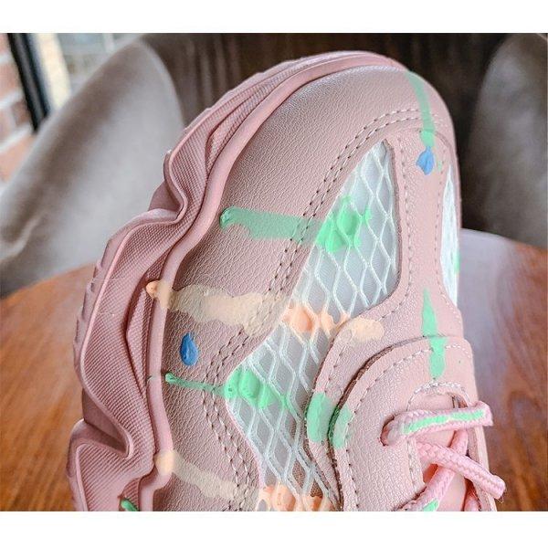 8938511722543 Giày Sneaker Color Glow White dành cho Nữ thương hiệu XBeauty. Giày Sneaker chất liệu cao cấp, bảo hành 1 năm lỗi 1 đổi 1 - Size 39