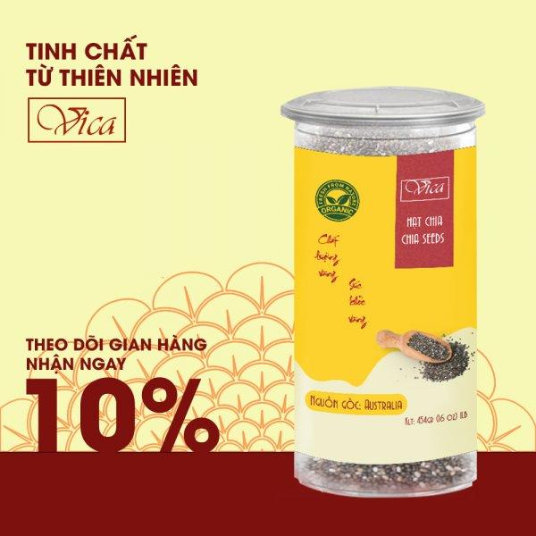 8938511722222 Hạt chia Úc VICA Chia Seeds Australia. Chia Seeds Absotute Perfect and Organic 100% chứa lượng Omega-3 cao hỗ trợ và phát triển trí não trẻ, tốt cho phụ nữ mang thai - Size 454G (1LB)