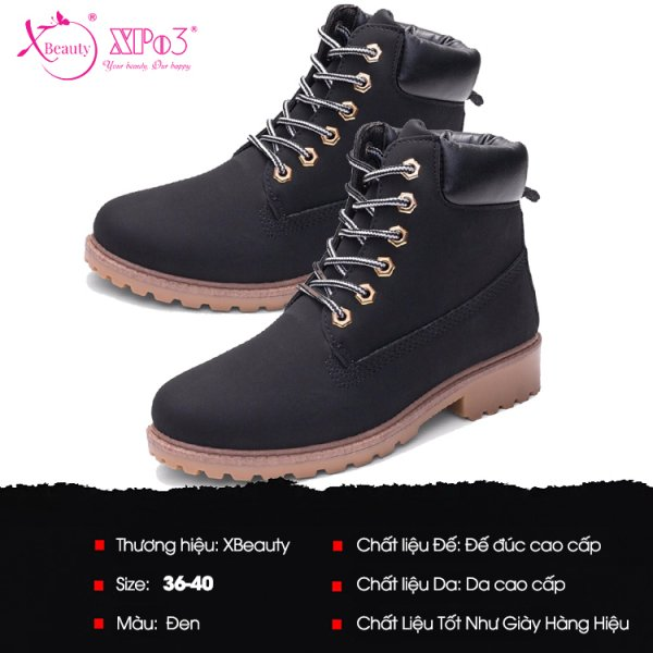8938511722550 XBeauty Four Collor PU Boot - Đen Size 39