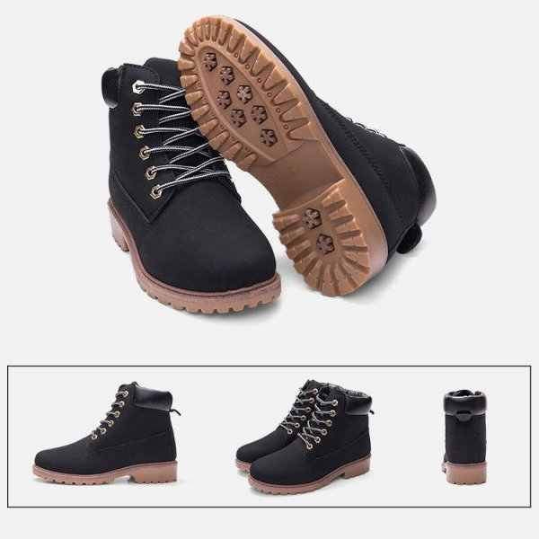 8938511722550 XBeauty Four Collor PU Boot - Đen Size 38