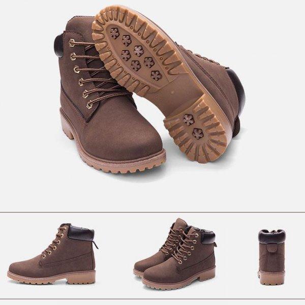 8938511722550 Giày Boot Four Collor PU dành cho Nữ thương hiệu XBeauty. Giày Sneaker chất liệu cao cấp, bảo hành 1 năm lỗi 1 đổi 1 - Nâu Size 36
