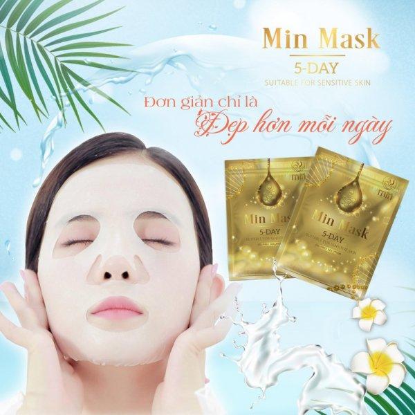 8809140822068 Bộ 5 Mặt nạ Hàn Quốc XBeauty Min Mask 5 Day - Trở nên xinh đẹp chỉ trong 5 ngày. Mặt nạ nọc ong Hàn Quốc (Mã vạch 8809140822068)