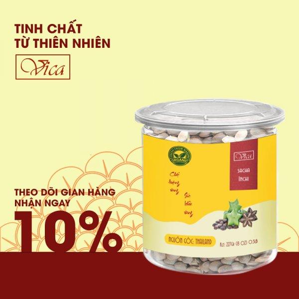 8938511722246 Hạt Sachi (Sacha Inchi) VICA 227g (0.5LB) đóng hũ nhựa cao cấp. Hạt Sachi (Thái Lan) hũ nhựa cao cấp, dùng làm quà tặng, quà tết, hạt dinh dưỡng
